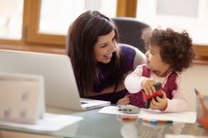Arbejde hjemmefra med børn